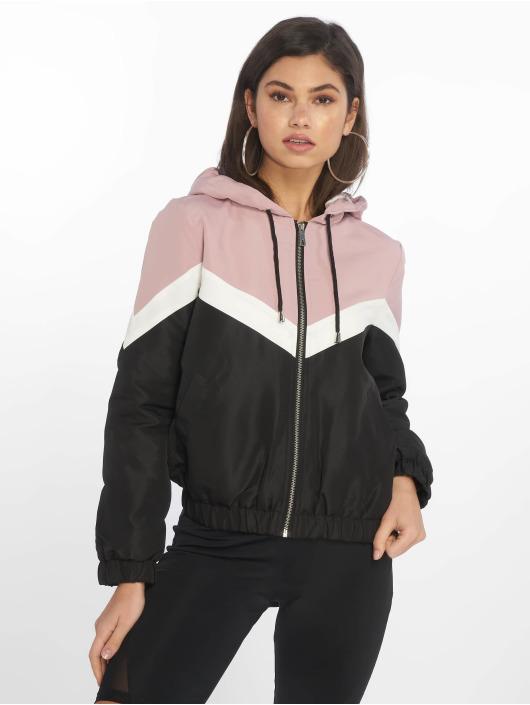 New Look Kurtki przejściowe Colourblock Fleece Lined rózowy