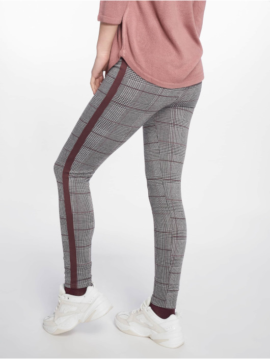 New Look Legging Check Side Stripe gris