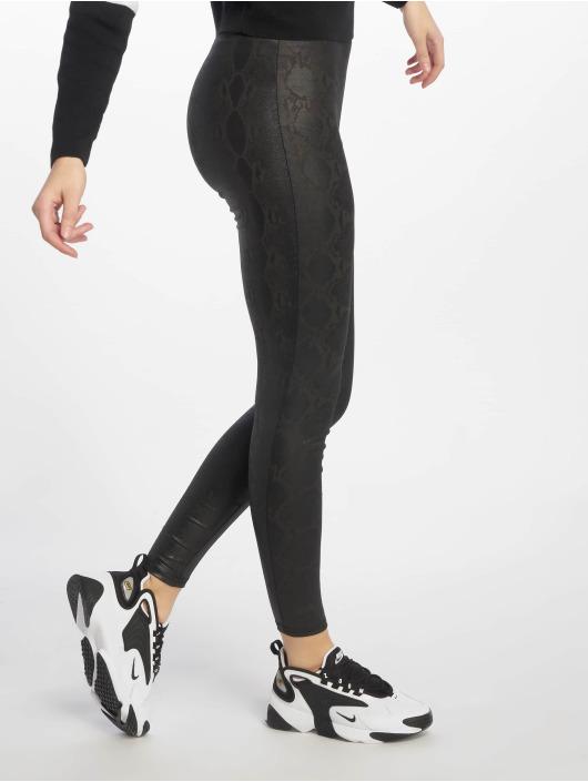 New Look Legging Wetlook Snakeskin schwarz