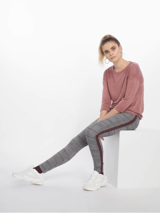 New Look Leggingsit/Treggingsit Check Side Stripe harmaa
