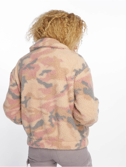 New Look Lightweight Jacket Pretty Camo Teddy Borg beige