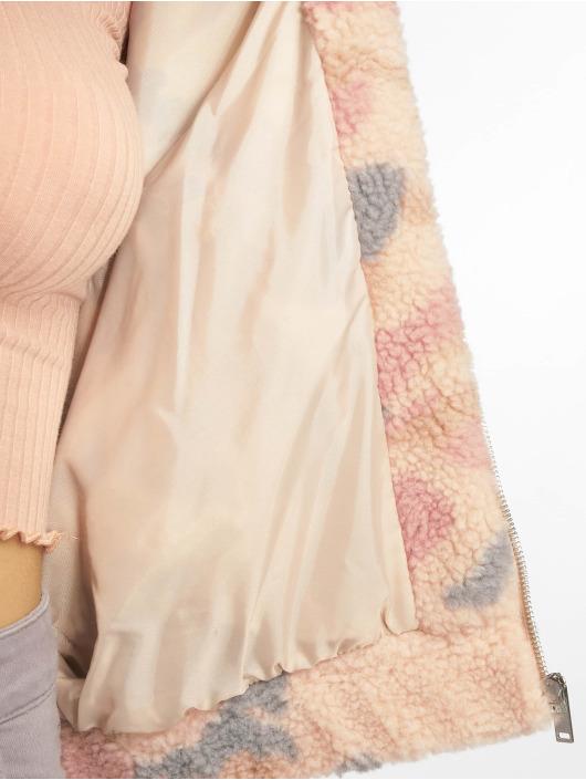New Look Lightweight Jacket Pretty Camo Teddy Borg beige