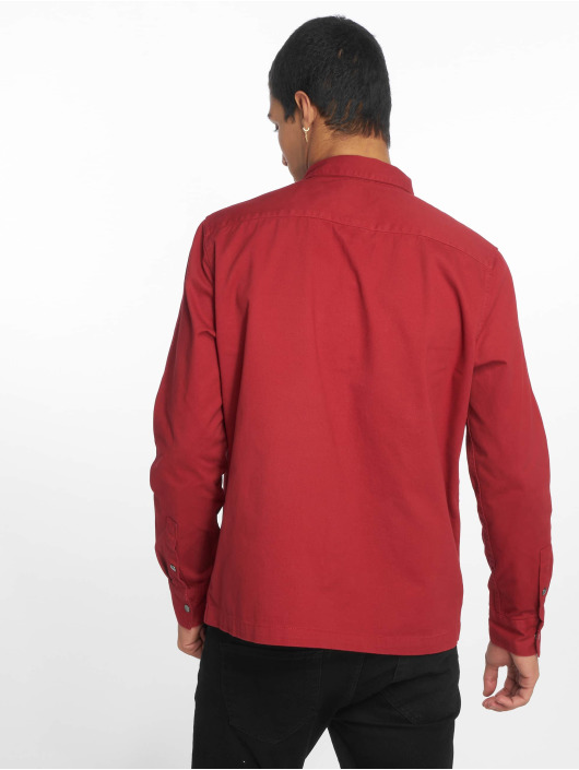 New Look Lightweight Jacket Snap Through Shacket red