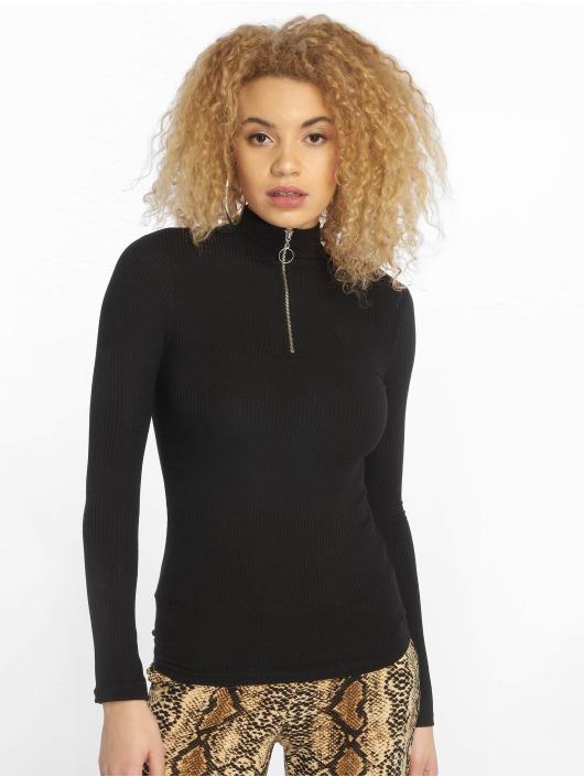 New Look Longsleeve Zip High Neck black