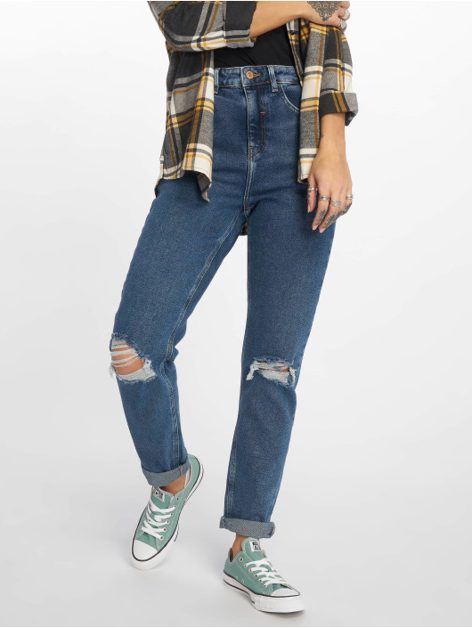 New Look Mom Jeans Ripped blue