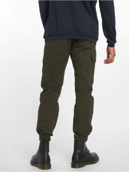 Pantalon Cargo Homme Elasticated 651442 New Half Kaki Look L3qAj54R