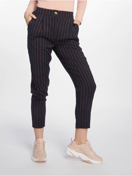 New Look Pantalon chino ST Pinstripe Pull On bleu