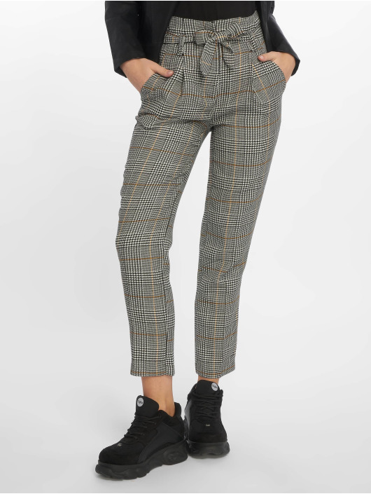 Look 651425 Check Tie Waist Pantalon Rome Chino Femme New Gris BdoxeC