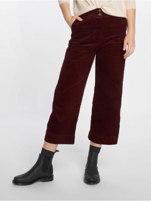 New Look Pantalon chino Cord Crop rouge