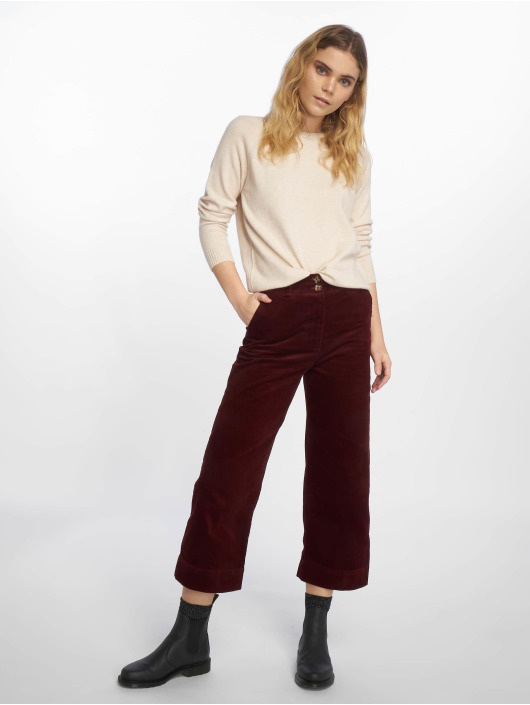 New Look Pantalon chino Cord Crop rouge
