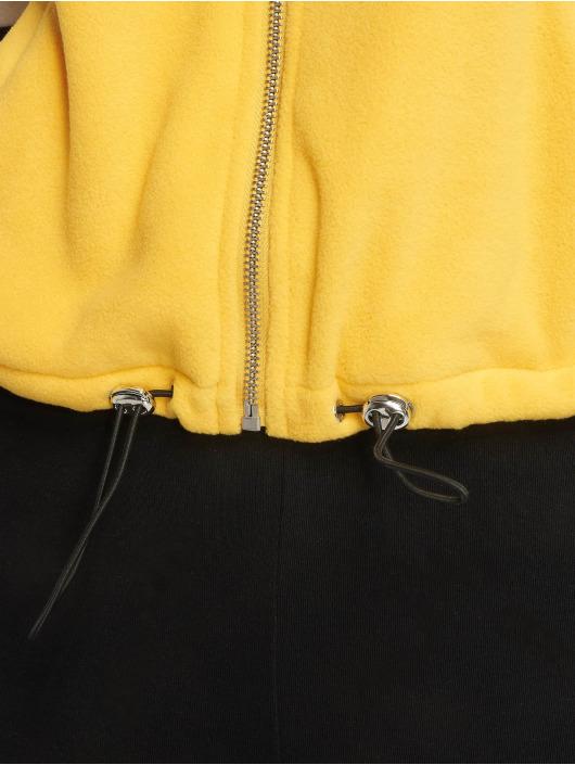 New Look Prechodné vetrovky Colourblock Polar Fleece žltá