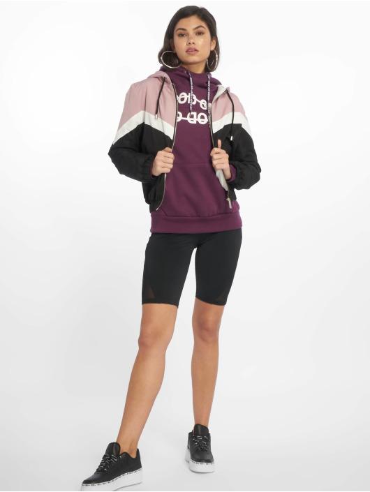 New Look Prechodné vetrovky Colourblock Fleece Lined ružová