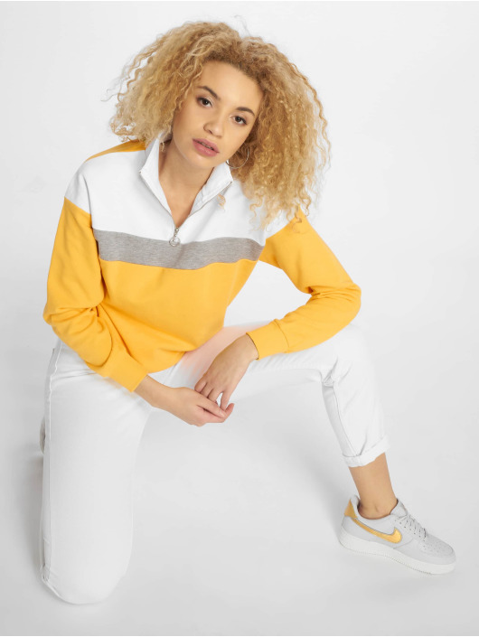 New Look Pullover WOW Colourblock gelb