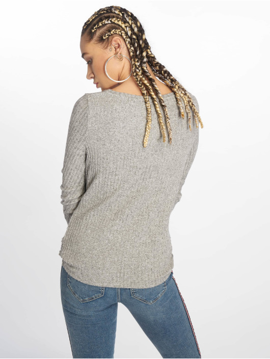 New Look Pullover C S Brushed Rib grau