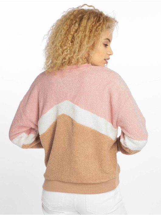 New Look Pullover Chevron Borg pink