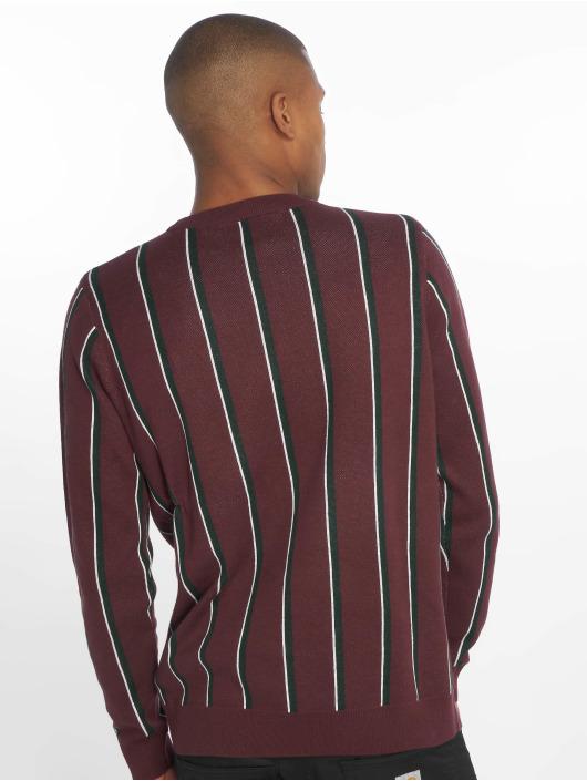 New Look Puserot Vertical Stripe punainen