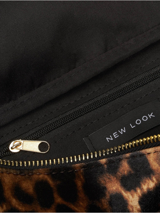 New Look Sac Libby Leopard Velvet Bum brun