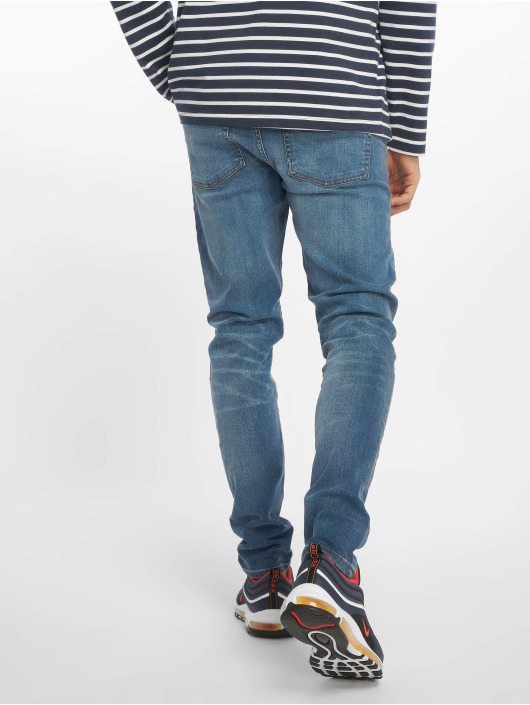 New Look Skinny Jeans Eugene Busted Knee blue