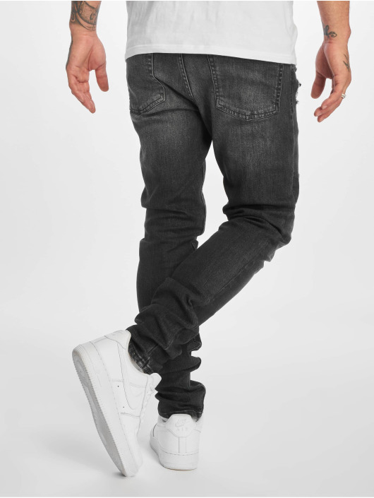 New Look Skinny Jeans WB Abrasion grey