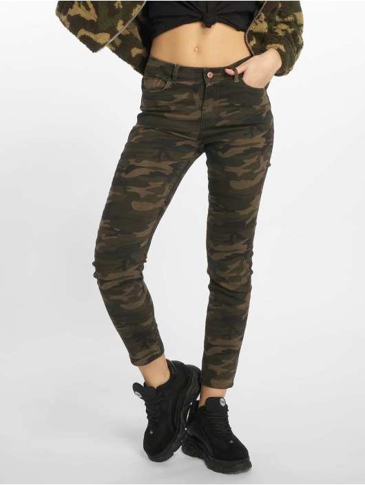 New Look Skinny Jeans EC Camo Bangkok grün