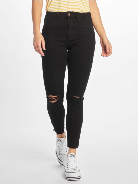 New Look Skinny Jeans Disco FS Cut Off Super schwarz