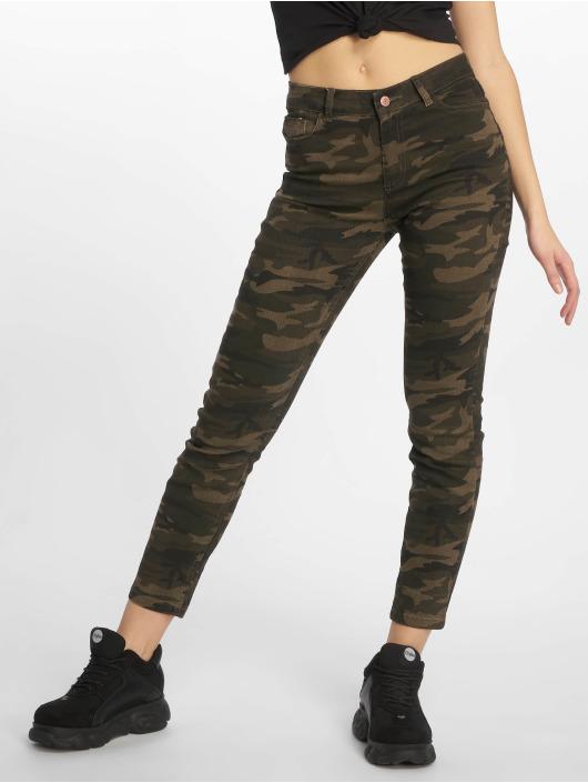 New Look Skinny Jeans EC Camo Bangkok zielony