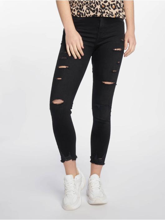 New Look Skinny jeans Schwarz Ext Rip zwart