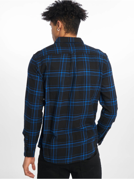 New Look Skjorter Ls Epp Blk Cobalt Check blå
