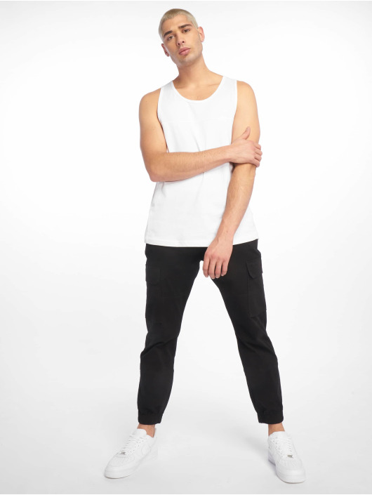 New Look Spodnie Chino/Cargo Half Elasticated czarny
