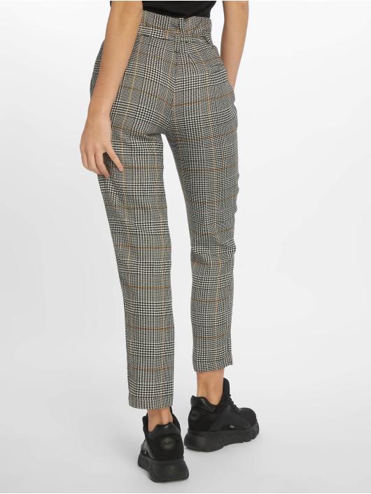 New Look Spodnie wizytowe Rome Check Tie Waist szary