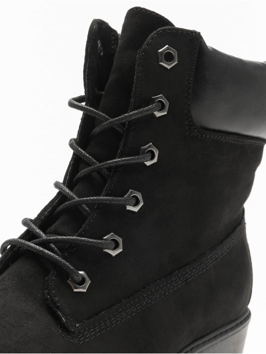 New Look Støvler WF Buffy PU Collar Lace Up svart