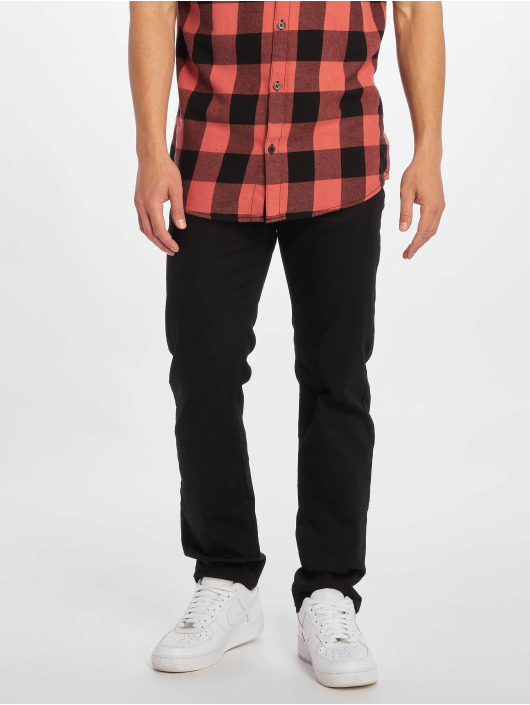 New Look Straight Fit Jeans Black svart