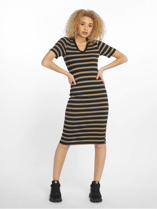 New Look Sukienki EC Stripe Rib Jersey czarny