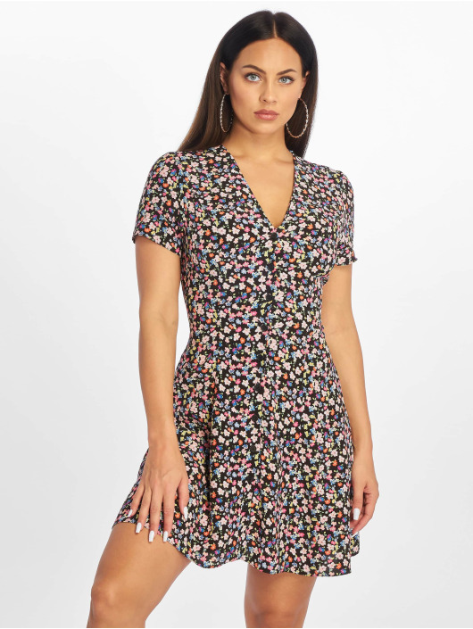 New Look Sukienki Chloe Floral Lattice Back czarny