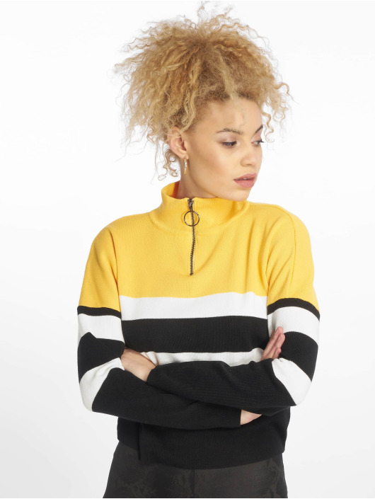 New Look Sweat & Pull 1/2 Zip jaune