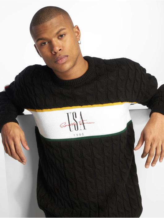 New Look Swetry USA EMB BLOCK czarny