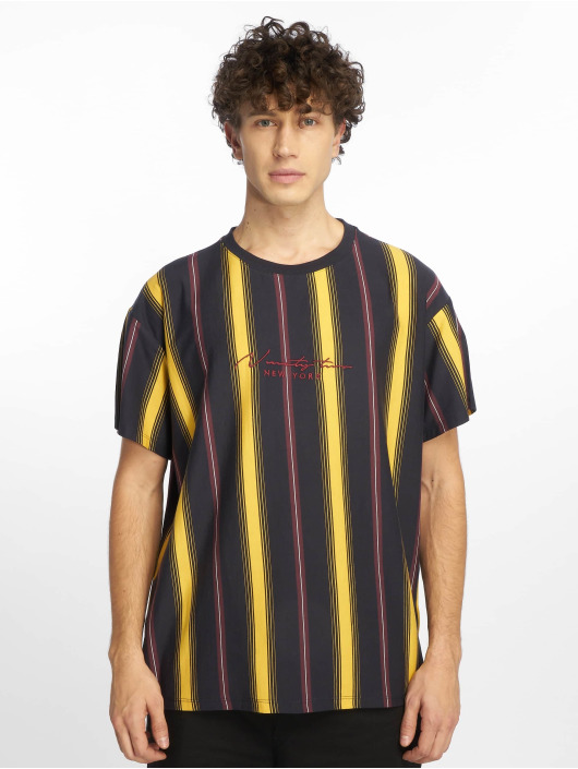 New Look T-Shirt Star Emb Vertical Stripe jaune