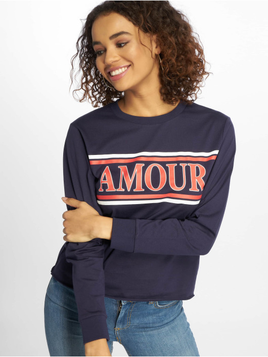 Bleu Amour Femme T Longues Manches 616695 New Look shirt jRAL54