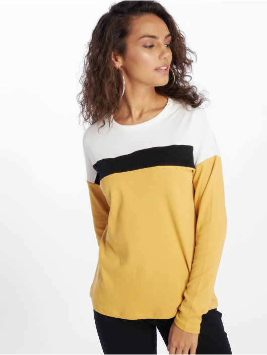 New Look T-Shirt manches longues Interlock Col Block jaune