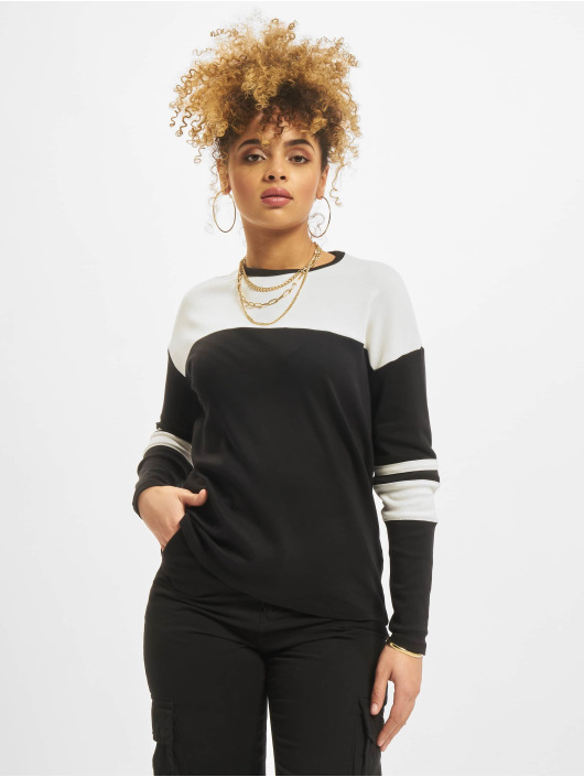 New Look T-Shirt manches longues Interlock noir