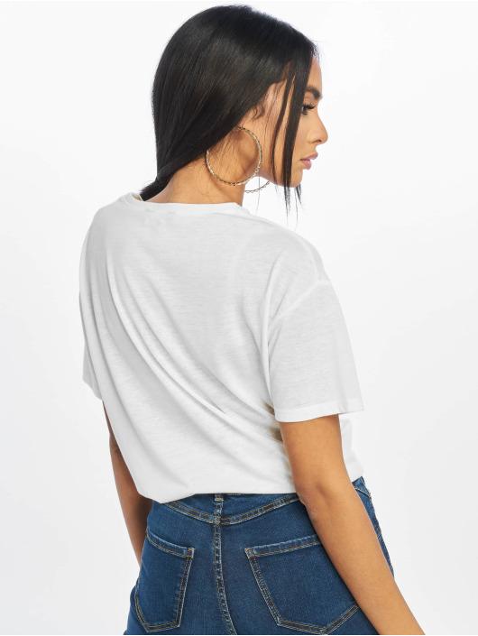 New Look T-Shirt Pl Tie Front weiß