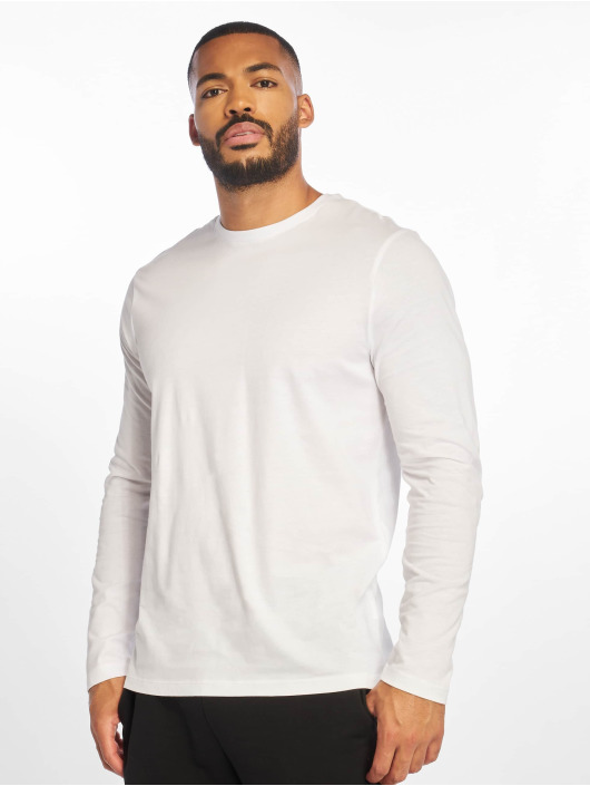New Look T-Shirt Longsleeve Crew white
