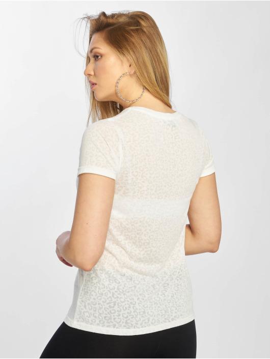 New Look T-Shirt Leopard Burnout white