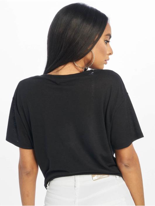 New Look T-Shirty Pl Tie Front czarny