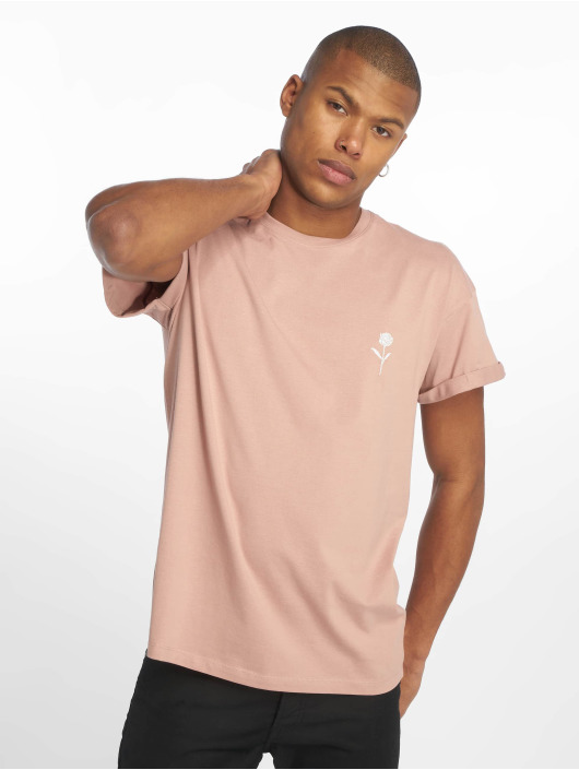New Look T-Shirty Solid Rose Emboidered rózowy