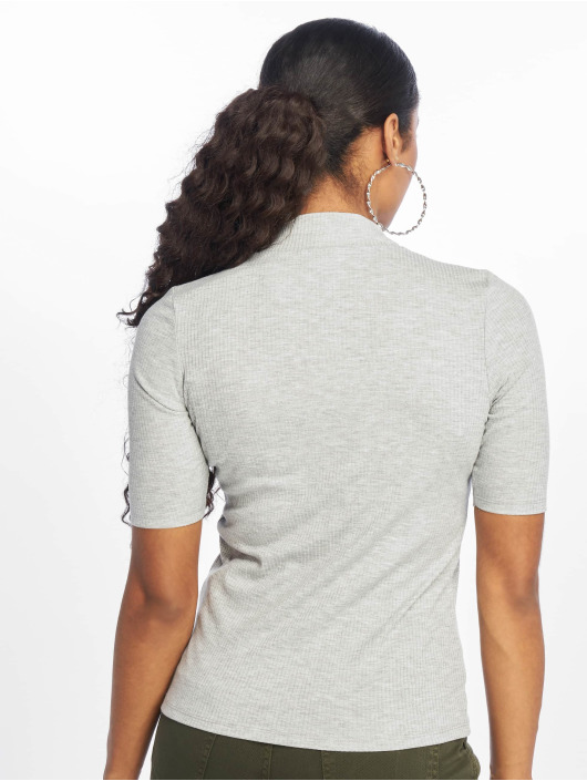 New Look T-Shirty Turtle Neck 1/S Sleeve szary