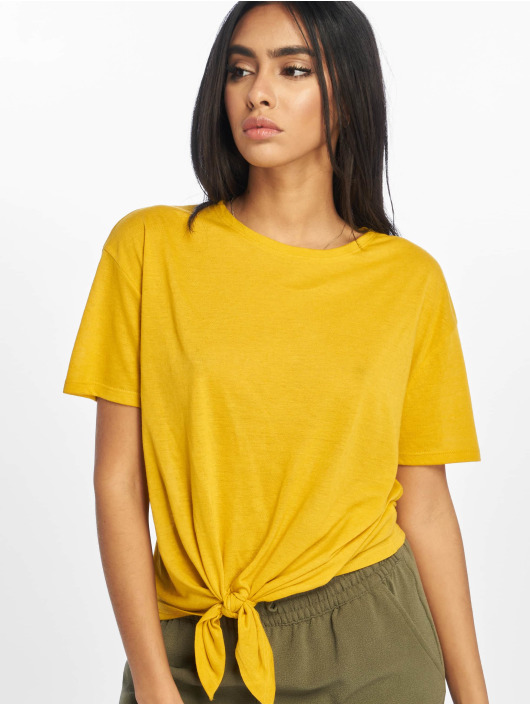 New Look T-Shirty Pl Tie Front zólty
