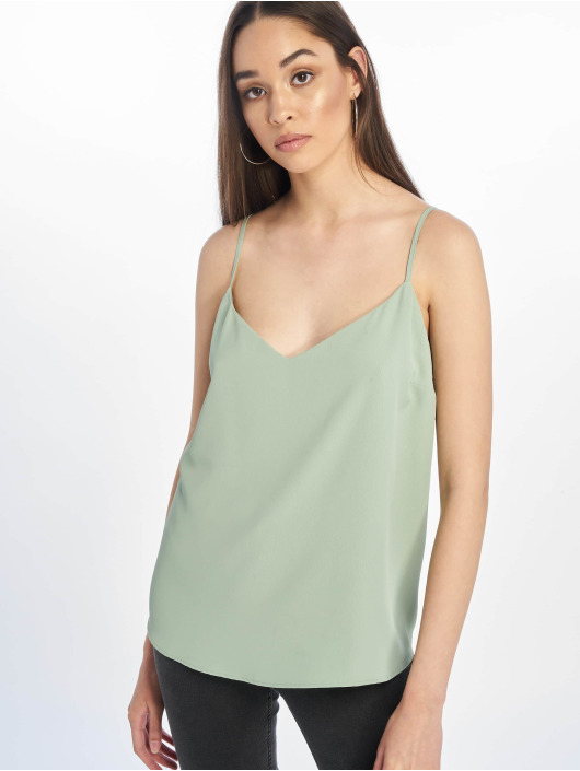 New Look Top Cleo Cross Back green