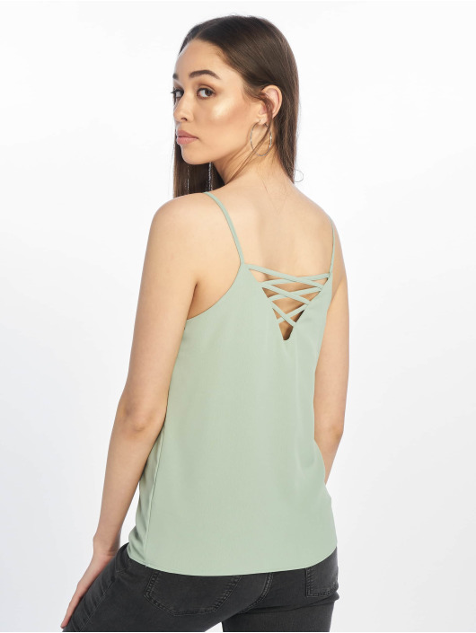 New Look Top Cleo Cross Back grün