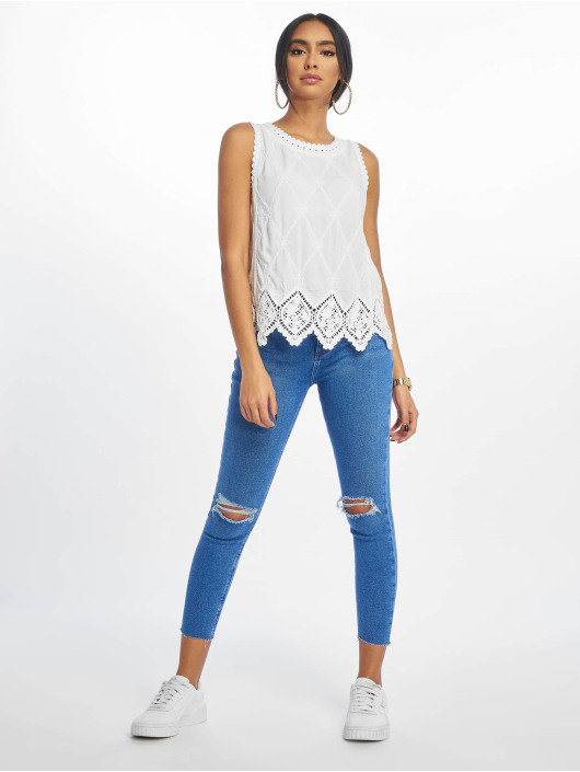 New Look Topper F Lexie Latice BK Crochet hvit